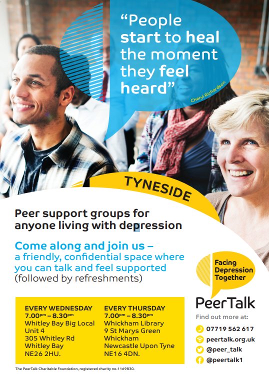 Poster for peer support Group