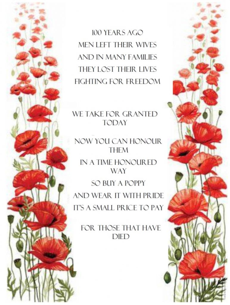 Poem and poppies drawing