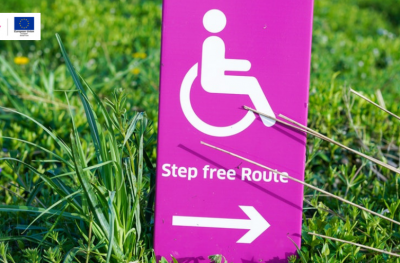 Step free route sign Moving On Tyne and Wear blog image