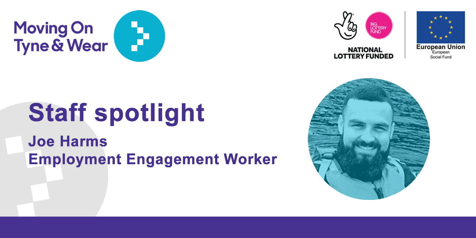 Staff spotlight. Joe Harms, Employment Engagement Worker
