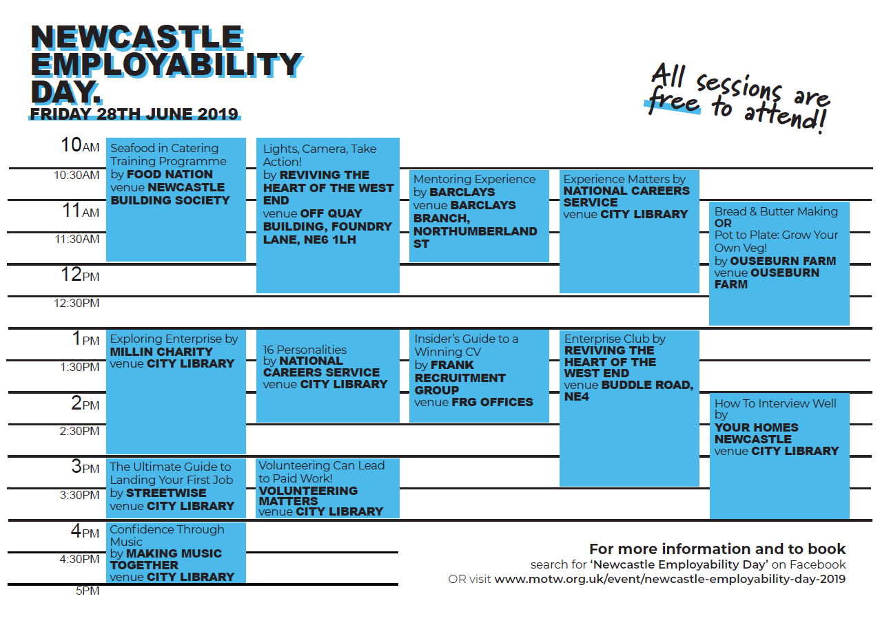 Newcastle Employability Day schedule