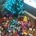 donations under the christmas tree